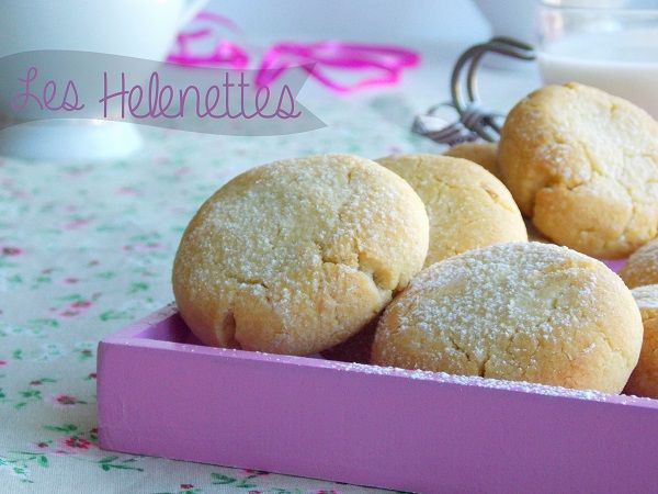 Les Helenettes, biscuits moelleux. Utiliser un reste de jaunes d'oeufs.