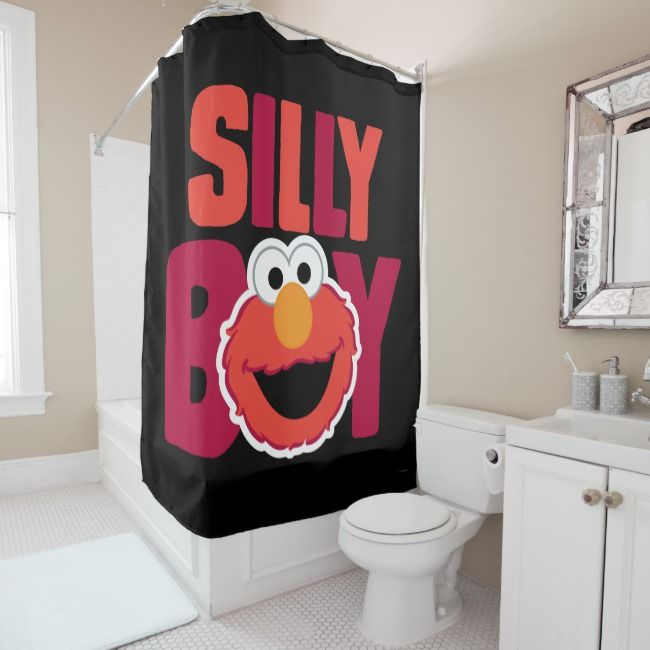 Elmo Silly Shower Curtain Zazzle Com With Images Shower