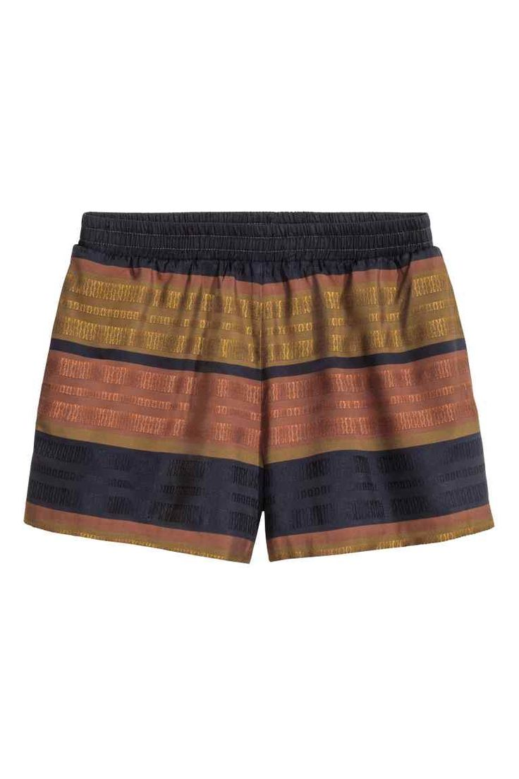 Striped shorts: Striped shorts in an airy jacquard weave with an elasticated waist and side pockets.