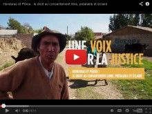 Honduras et Pérou : le droit au consentement libre, préalable et éclairé. http://www.devp.org/fr/blog/video-honduras-et-perou-le-droit-au-consentement-libre-prealable-et-eclaire  Campagne d'éducation et de mobilisation | Développement et Paix