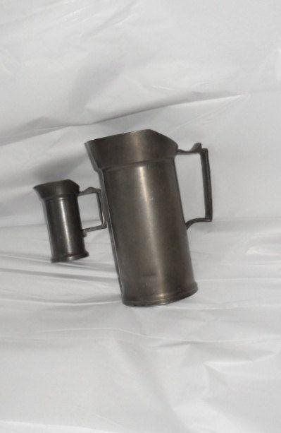 ANTIQUE MEASURING Tankards/Made in Holland/Half Liter by BYGONERA