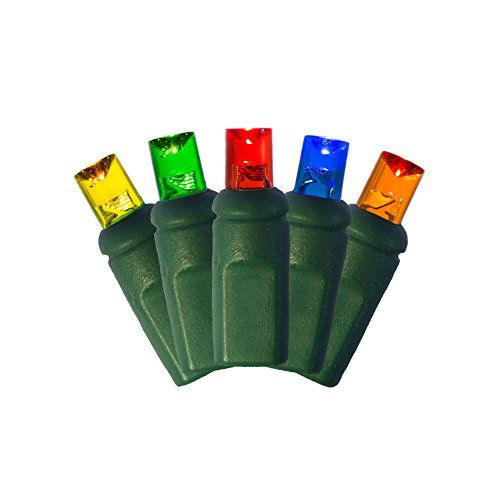 Multi RedBlueGreenYellowOrange LED 5MM Mini Christmas Lights Professional Grade Set of 50 Bulbs *** Check out this great product.