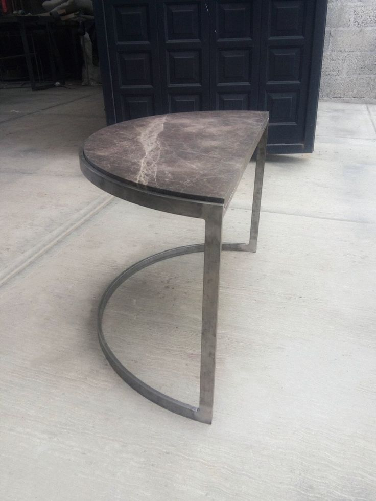 Base para mesa de media luna