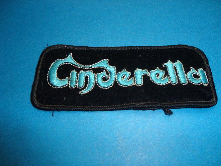 Cinderella Rock Band Vintage Embroidered Patch find me at www.dandeepop.com