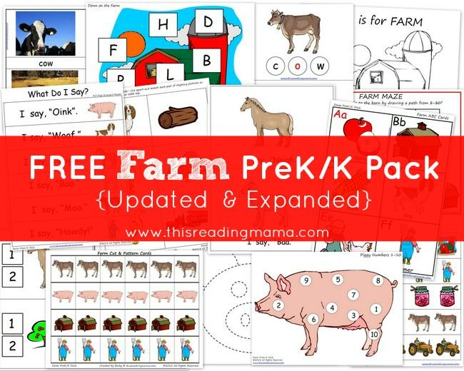 Free Summer Pre K K Pack Updated Expanded: 78 Best Images About Farm Preschool Theme On Pinterest