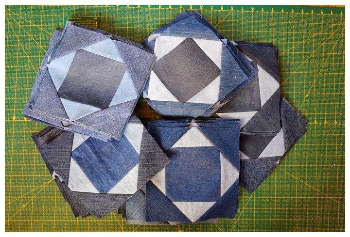 Как раскроить и сшить лоскутное покрывало из старых джинсов