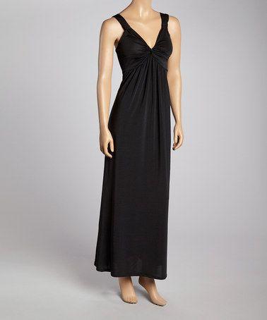 Look at this #zulilyfind! Black Twist Front Maxi Dress #zulilyfinds
