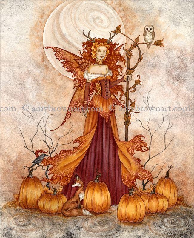 Amy Brown Pumpkin Queen - Halloween Faerie