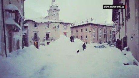 "Erin McLaughlin reports on a record 100.8 inches of snowfall in the small village of Capracotta, Italy. Photos courtesy <a href=""http://www.meteoweb.eu"" target=""_blank"">www.meteoweb.eu</a>."