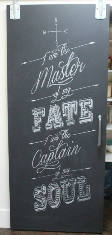 I am the master of my fate. I am the captain of my soul.