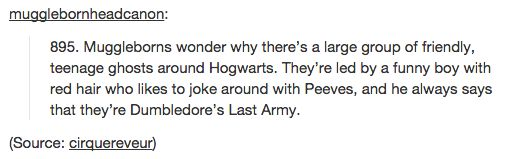"Then there's this headcanon, which is COMPLETELY UNCALLED FOR. | 17 Tumblr Posts About ""Harry Potter"" That Will Make You Weep"