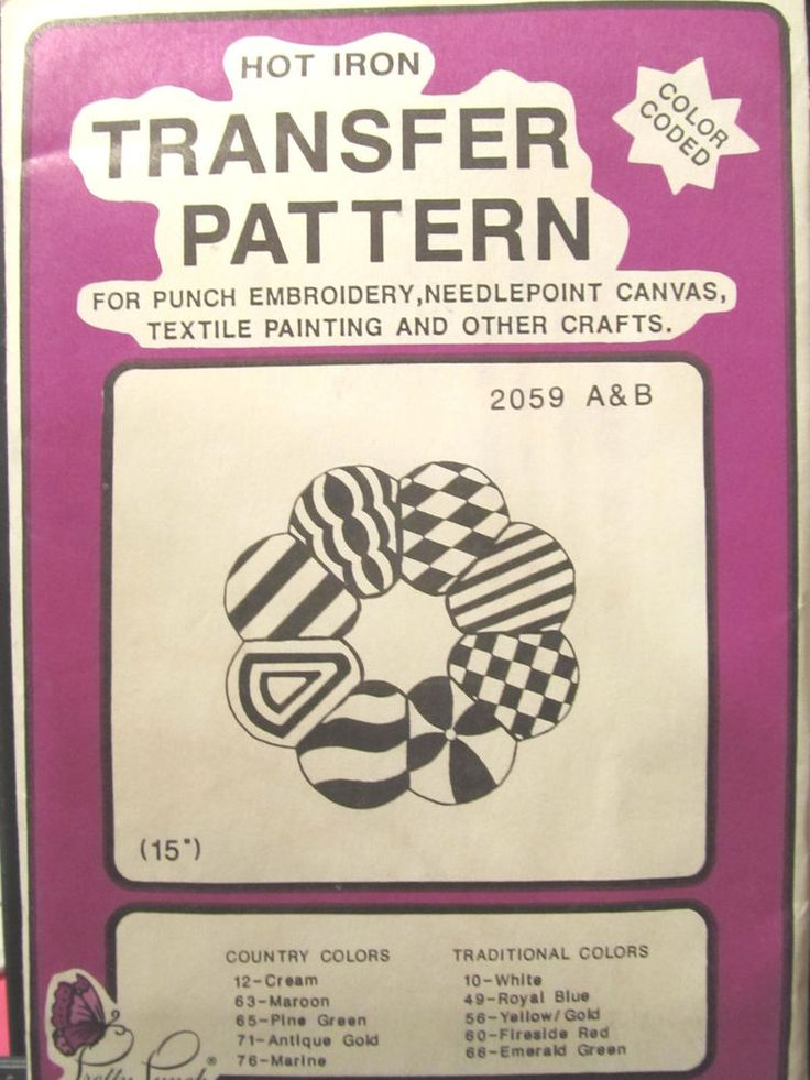 T95- Iron on Transfer Pattern - Pretty Punch -#2059 Quilted Wreath