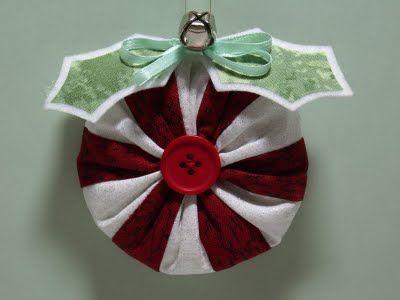 yo yo peppermint ornament