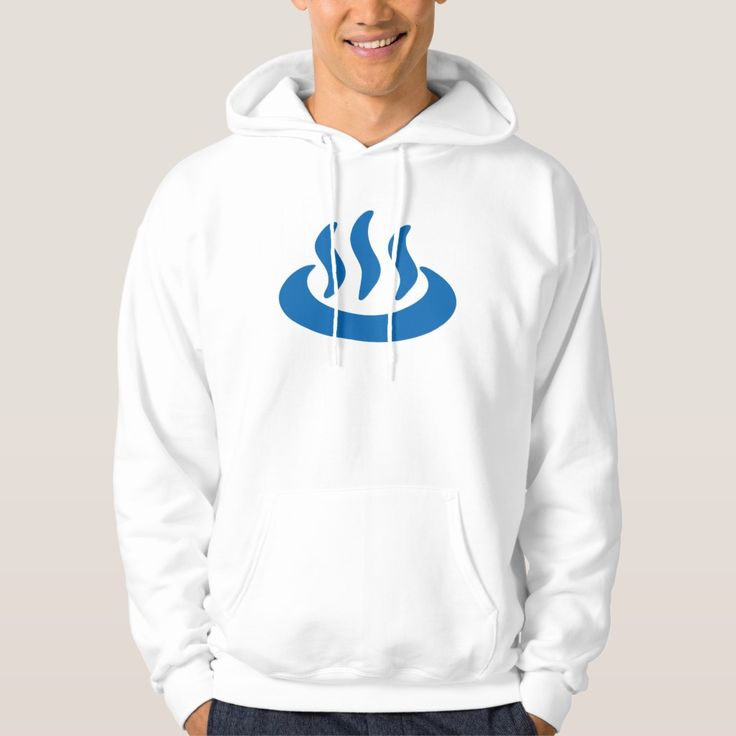 Onsen Hot Spring Japanese Sign Hoodie, Men's, Size: Adult M, White