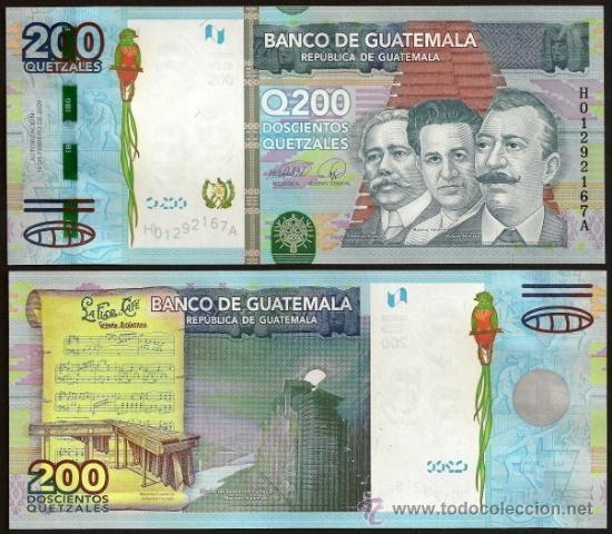 Guatemala, Nuevo billete de 200 quetzales 2009