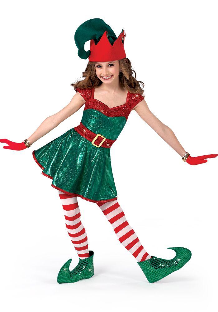 H284 - Santa's Helper #dancecostume #recitalcostume #holidaycostume
