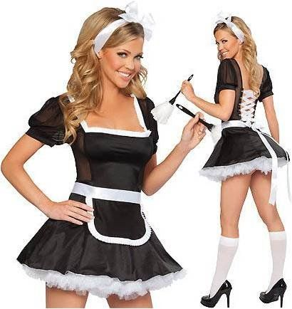 Sexy French Maid Halloween Costumes