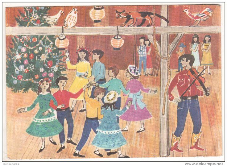 Danse Folklorique Amérique Du Nord Par Reidar Johan Berle Pour Les Fonds Des Nations Unies Pour L'enfance Double
