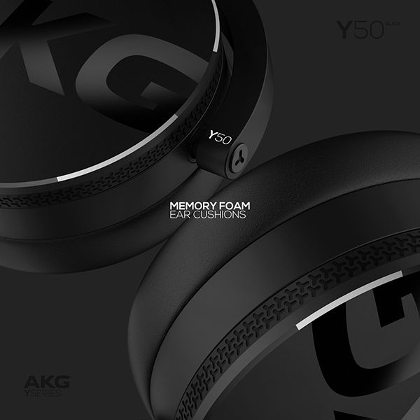 AKG Y50 / On-Ear Headphones by Rafał Czaniecki, via Behance