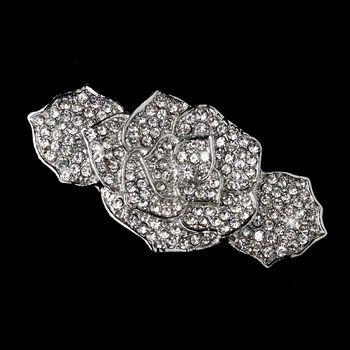 Antique Silver Flower Hair Barrette.  Make it yours: http://styleyourday.com.au/products/Antique_Silver_Flower_Hair_Barrette-434-111.html #bridalhair #bridalhairaccessories