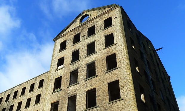 Abandoned textile mill