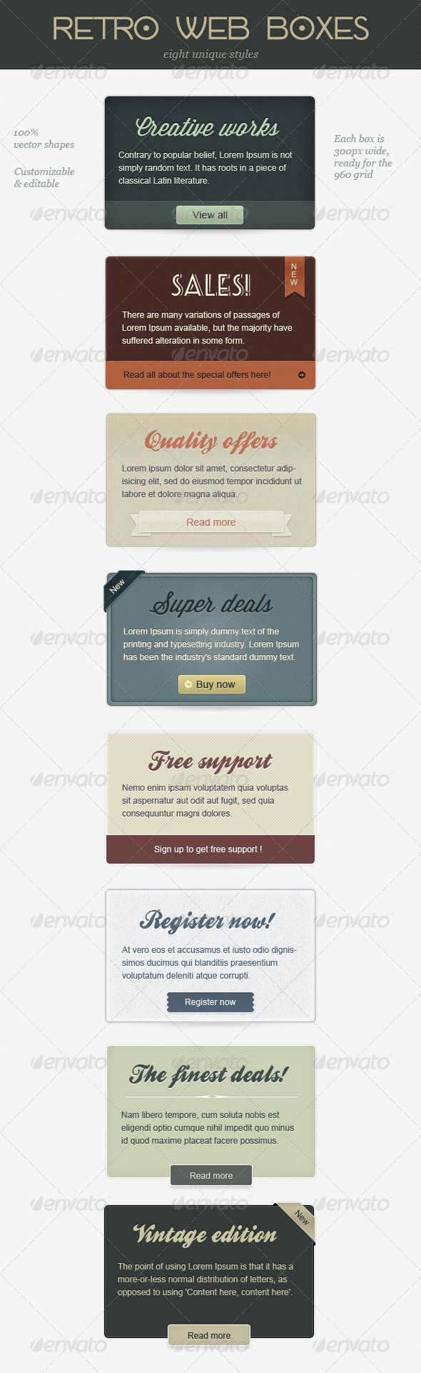Retro Web Boxes Template PSD | Buy and Download: http://graphicriver.net/item/retro-web-boxes/1922916?WT.ac=category_thumb&WT.z_author=loreleyyy&ref=ksioks