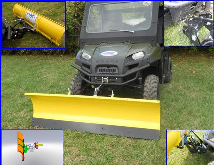 """Ranger 72"""" Snow Plow [Ranger Snow Plow] $1,049.99 Extreme Metal Products new Heavy Duty UTV Plow. This is not your average Chinese made ATV plow. It is made in Cleveland Ohio from American A36 Steel not soft Chinese steel like others on the market."""