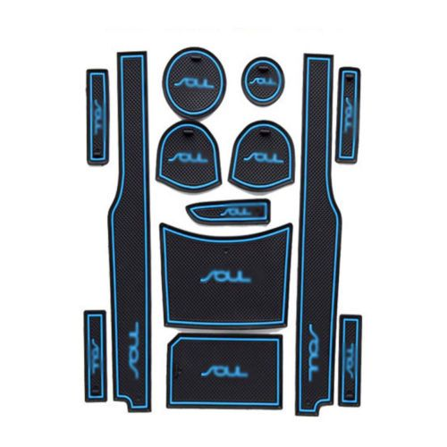Storage-Groove-Pad-Cup-Holder-Mat-Non-slip-Waterproof-Dustproof-For-Kia-Soul