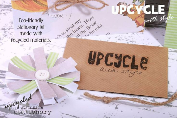 Recycled Business Card & Paper Flower