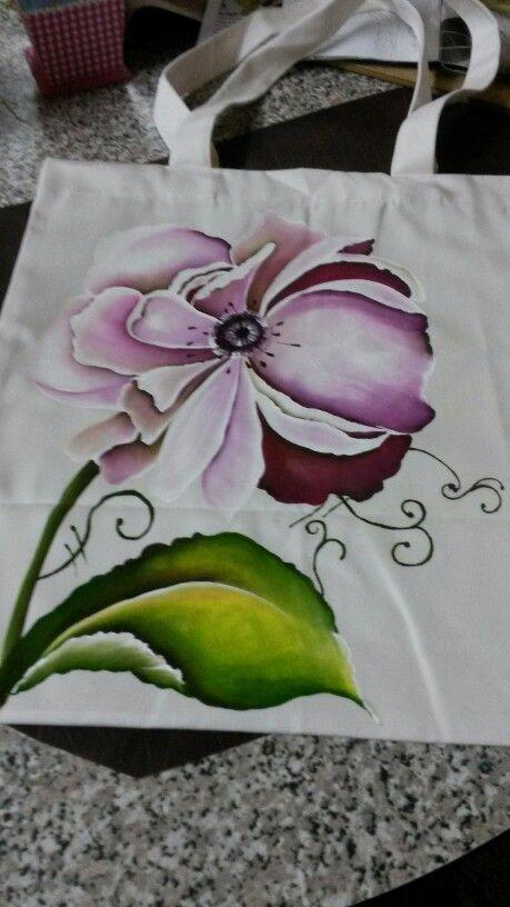 Bolsa..pintada a mano