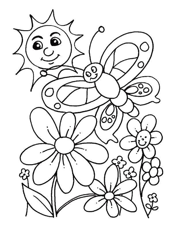 desenhos da primavera para colorir - Printing Pages For Kindergarten
