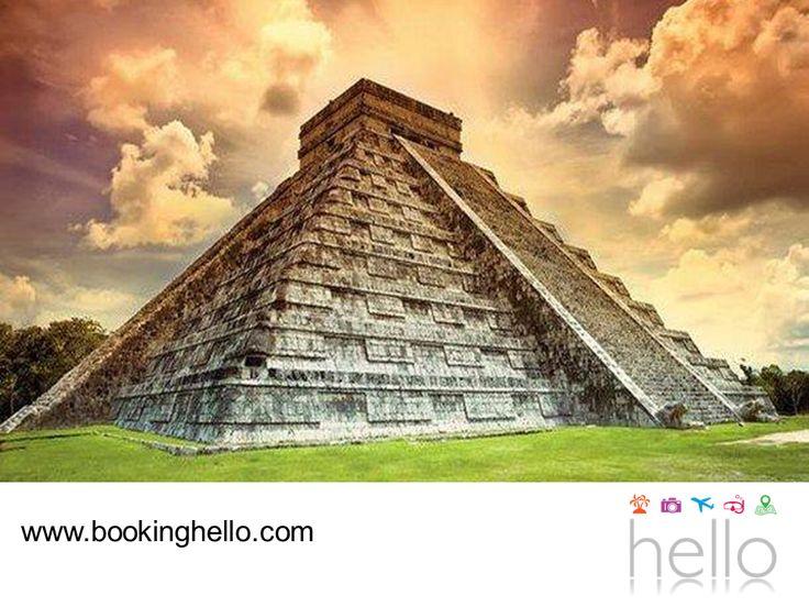 VIAJES PARA JUBILADOS TODO INCLUIDO AL CARIBE. Si durante tus vacaciones en Cancún deseas hacer un poco de turismo, en Booking Hello te recomendamos visitar la pirámide de Kukulkán. Un templo con una altura de 24 metros que aún conserva vestigios de los avances que los mayas tuvieron en la arquitectura, el diseño y la medición del tiempo. Un recorrido que vale la pena hacer, para conocer más sobre esta cultura milenaria. #BeHello