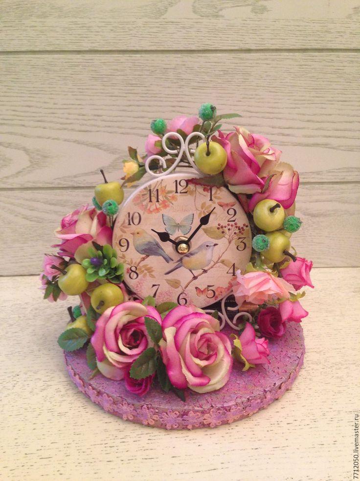"Часы с цветами""Райский сад"""