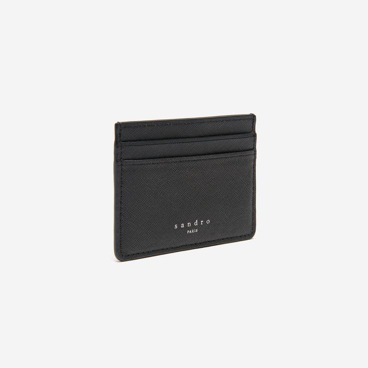Porte carte noir Sandro