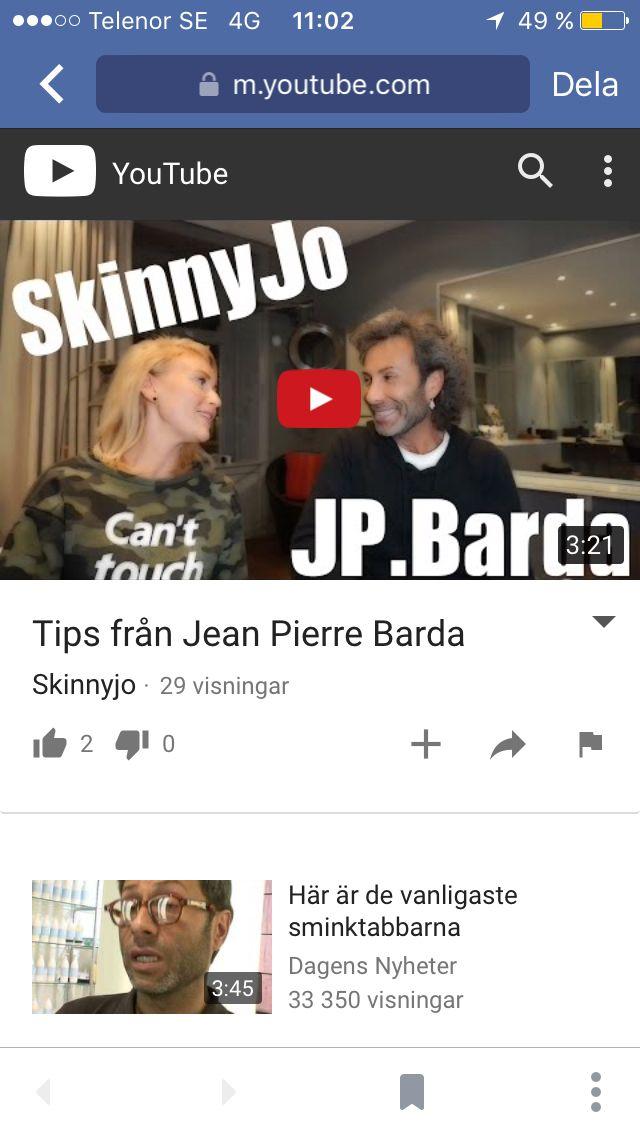 Youtube skinnyjo med Jean Pierre Barda
