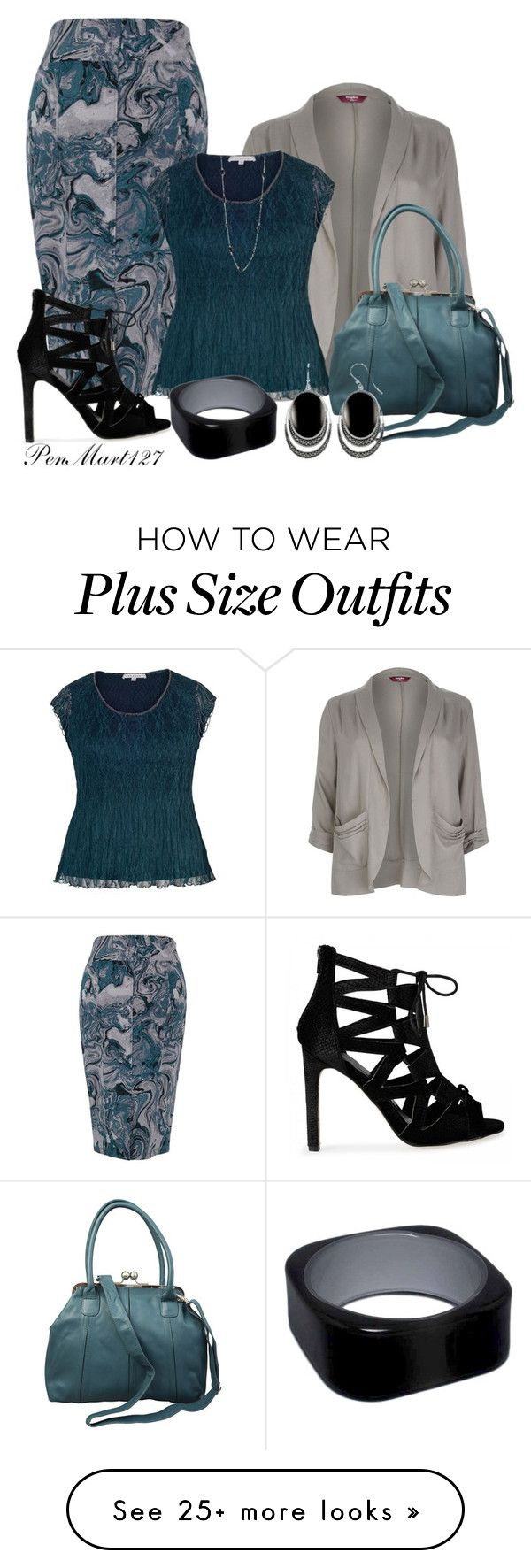"""Content #Plussize"" by penny-martin on Polyvore featuring Melissa McCarthy Seven7, Chesca and plus size clothing"