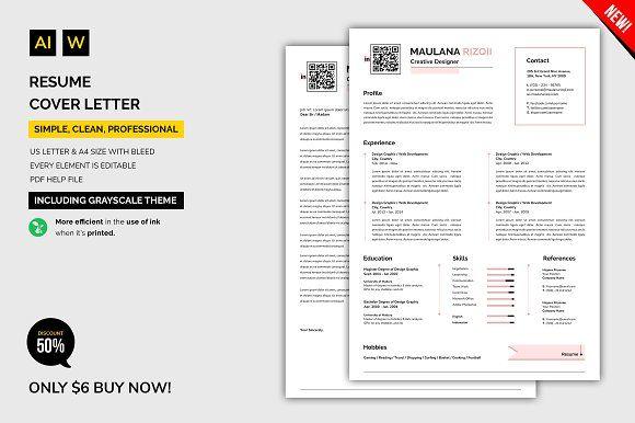 Resume / Cover Letter @creativework247 Resume samples Pinterest
