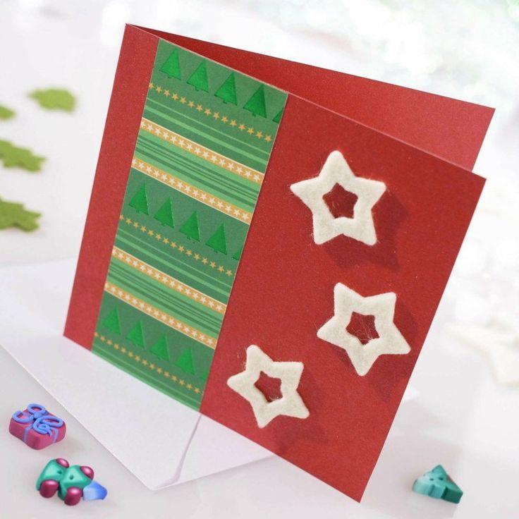 Card Making Ideas Christmas Part - 43: Carte De Vœux Pour Noël- 55 Idées à Fabriquer à La Maison. Funny Christmas  Card SayingsSimple Christmas CardsHomemade ...