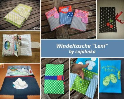 """Die Windeltasche """"Leni"""" ist eine vielseitige Tasche und   kommt ganz ohne das Schließen einer Wendeöffnung aus.    Sie hat nicht nur Pla..."""