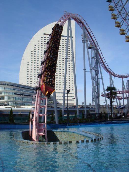 Vanish Roller Coaster at Cosmoworld in Yokohama, Japan >> I wanna go on it! :)