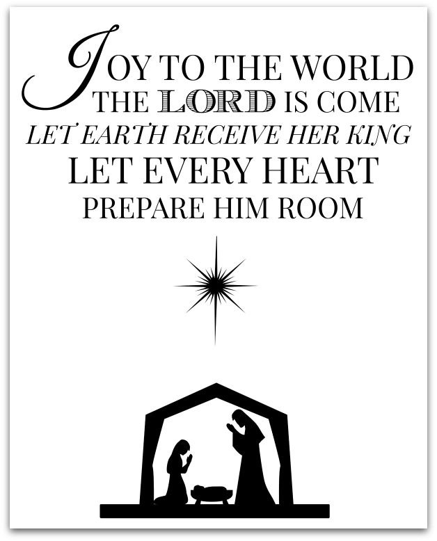Print and frame this FREE printable to add a little joy to your Christmas decor!