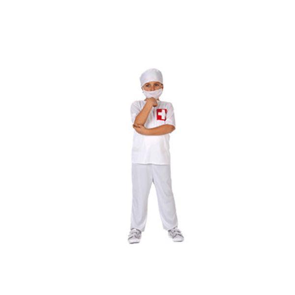 Dokter kostuum voor kinderen. Wit dokters kostuum voor kinderen met een rood kruis op de borst. Het kostuum wordt geleverd inclusief mondkapje en hoedje. Carnavalskleding 2015 #carnaval