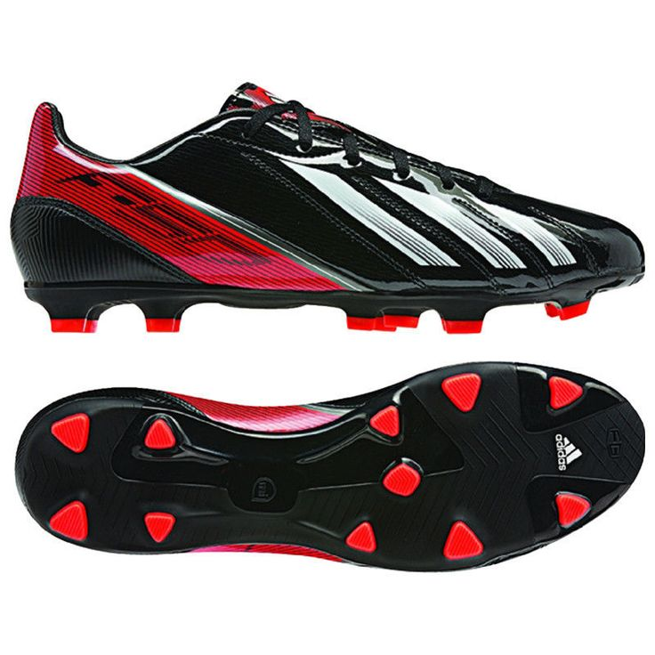 adidas F10 TRX FG 2013 Soccer Shoes Black / Red / White New miCoach Compatible