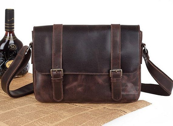 Hommes affaires sac /Messenger sac/Vintage sac /Retro sacs / sacs à main / Genuine Leather / / robe-vb154