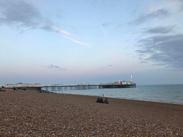 Brighton beach  #brighton #brighton_ig #brightonpalacepier #beach #seaside #spring #sunset