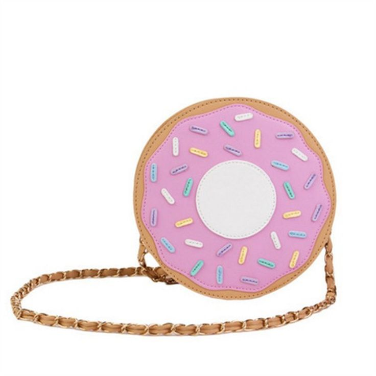 Three-Dimensional Donuts Style Messenger Bag