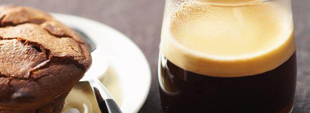 My favorite Swiss Coffee .. with a twist that I'd happily enjoy!   VIVALTO LUNGO & CHOCOLATE FONDANTS WITH COFFEE CUSTARD