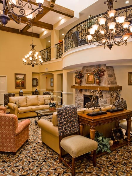 Texas lobby Mirabella Assisted Living