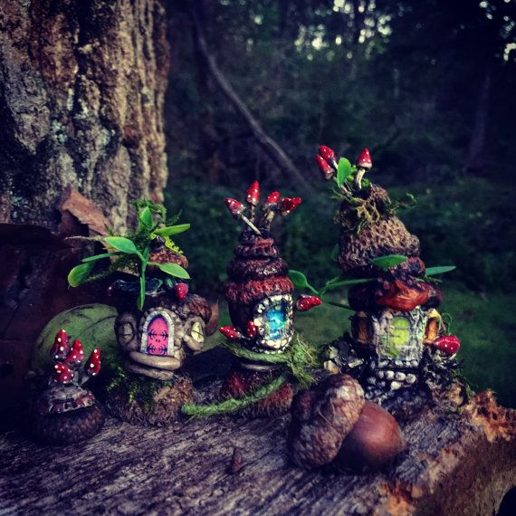 Fairy town acorns  Village от CindiBee на Etsy