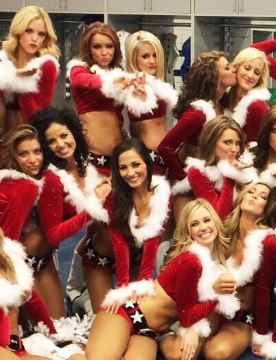 Dallas Cowboys Cheerleaders Show Off Their Hot Christmas Outfits ...